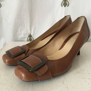 Cole Haan Brown Leather Heels, Pumps, size 6.5
